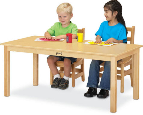 "Jonti-Craft 24"" x 48"" Multi Purpose Rectangle Wood Table"