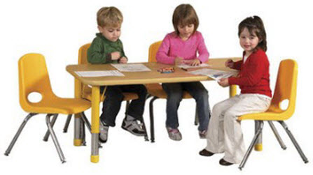 "ECR4Kids 24"" x 48"" Rectangle Classroom Activity Table"