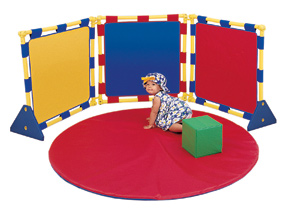 3 Square Children's Play Panel Set