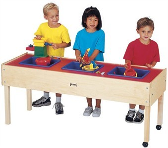 Jonti-Craft 3 Tub Sand and Water Activity Table