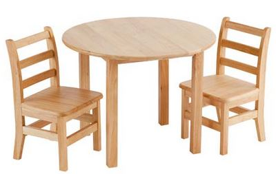 "ECR4Kids 30"" Round Classroom Table & Chair Set"