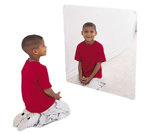 "30"" Square Shatter Resistant Mirror"