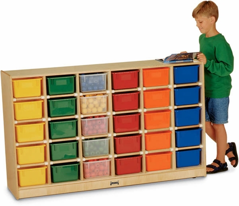 Jonti-Craft 30 Tray Mobile Cubbies by
