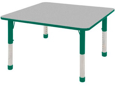 "ECR4Kids 30"" x 30"" Square Adjustable Activity Table"