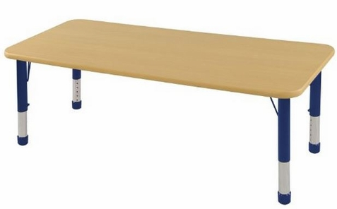 "ECR4Kids 30"" x 60"" Adjustable Rectangle Classroom Activity Table"