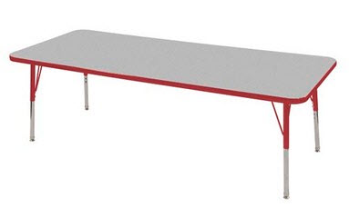 "ECR4Kids 30"" x 72"" Adjustable Classrom Activity Table"