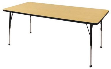 "ECR4Kids 36"" x 72"" Adjustable Classrom Activity Table"