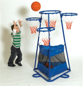 4-Ring Kids Basketball Set