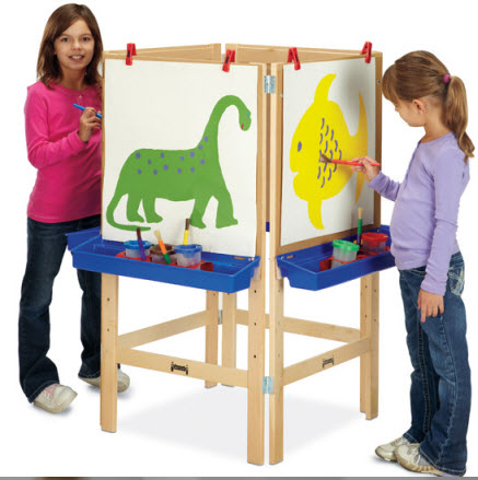 Jonti-Craft 4 Way Adjustable Wooden Easel