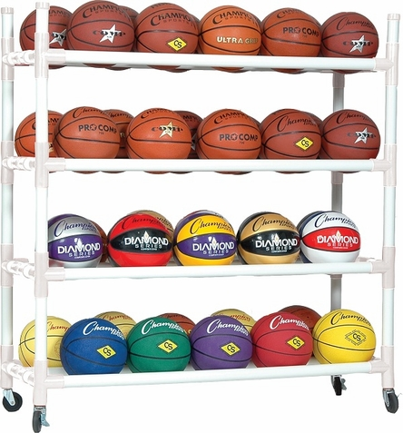 Champion Sports 40 Balls Heavy Duty Ball Cart w/ Casters