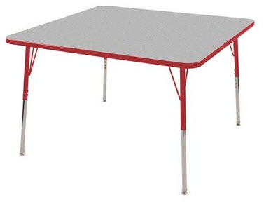 "ECR4Kids 48"" x 48"" Square Adjustable Activity Table"