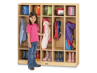 Jonti-Craft 5 Section Maplewave Coat Lockers
