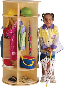 Jonti-Craft 5 Section Revolving Coat Lockers