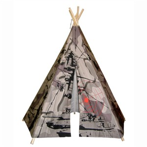 6' Hideaway 5 Panel Children's Camo Teepee