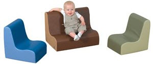 "6"" Little Tot Contour Cozy Woodland 3 Piece Soft Furniture Group"