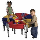 ECR4Kids 6 Station Hollow Sand & Water Play Center