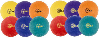 "Champion Sports 8.5"" Playground Balls - Set of 6"