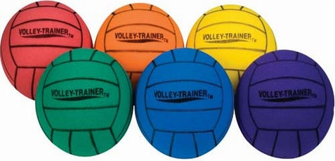 "Champion Sports 8"" Ultra Foam Volleyball - Set of 6"