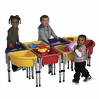 ECR4Kids 8 Station Sand & Water Play Table