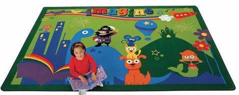 A World of Imagination Classroom Rug - 3'10 x 5'5