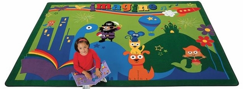 A World of Imagination Classroom Rug - 5'5 x 7'8