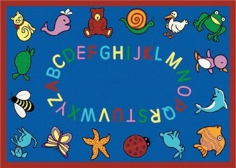 ABC Animal Preschool Rug