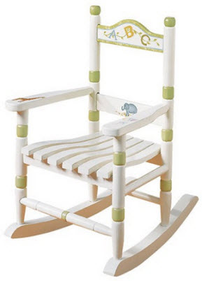 ABC Animals Child Sized Rocking Chair