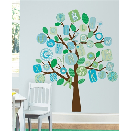 ABC Blue Tree Peel & Stick Giant Wall Decal