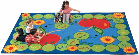 ABC Caterpillar Factory Seconds Classroom Rug 8'4 x 11'8 Rectangle