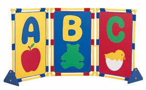 ABC Play Panel Set w/ Feet & Connector Clips