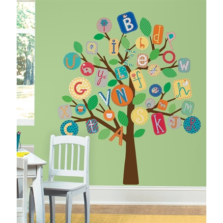 ABC Primary Tree Peel & Stick Giant Wall Decal