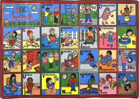 ABC's Feeling Educational Rug 7'8 x 10'9