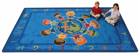 All God's Children Faith Based Literacy Rug 6' x 9'