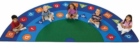 Alpha Shapes Semi Circle Seating Rug - 5'10 x 11'8