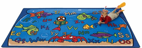 Alphabet Aquarium Factory Second Rug 5'10 x 8'4