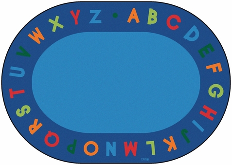 Alphabet Circletime Oval School Rug 6'9 x 9'5 Oval