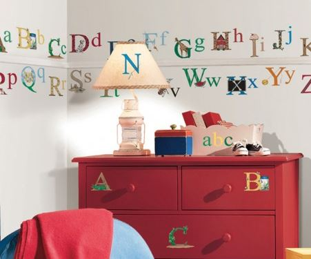 Alphabet Peel & Stick Wall Stickers - Free Shipping