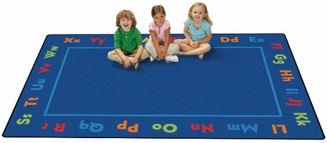 Alphabet Value Line Play Area Rug 6' x 9'