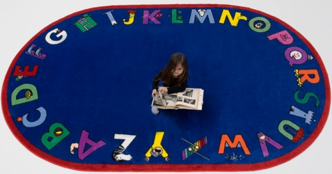 Alphabet with Attitude Oval School Carpet - Free Shipping