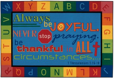 Always be Joyful Value Line Rug 6' x 9'