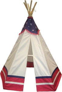 6' American Flag Themed TeePee