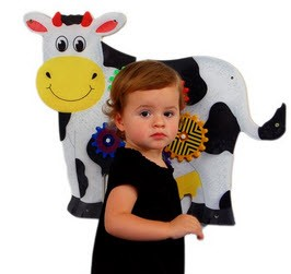 Cow Wall Panel Waiting Room Toy