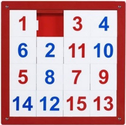 Anatex Numbers 1 -15 Wall Puzzle Toy