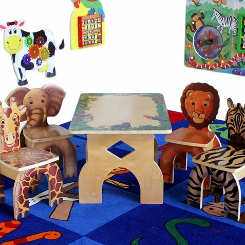 Anatex Safari Table and 4 Chair Set