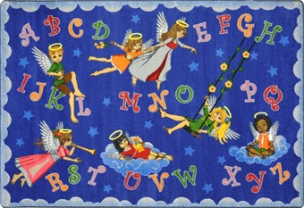 Angel Alphabet Sunday School Rug 5'4 x 7'8 Rectangle