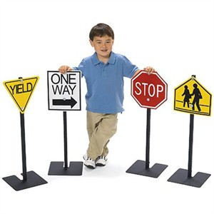 Kids Standing Traffic Signs - Set 1