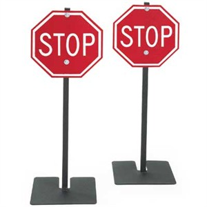 Traffic Stop Sign 2 Pack