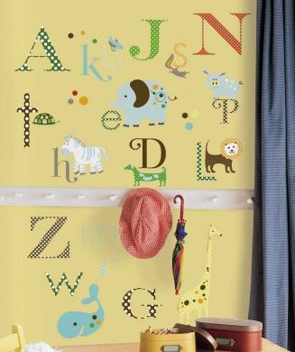 Animal Alphabet Wall Stickers - Free Shipping