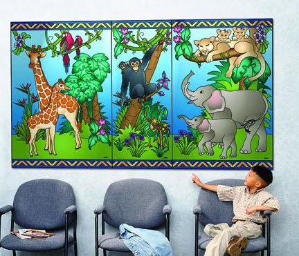 Animal Families Waiting Area Mural