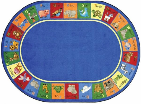 Animal Phonics Educational Rug 10'9 x 13'2 Oval